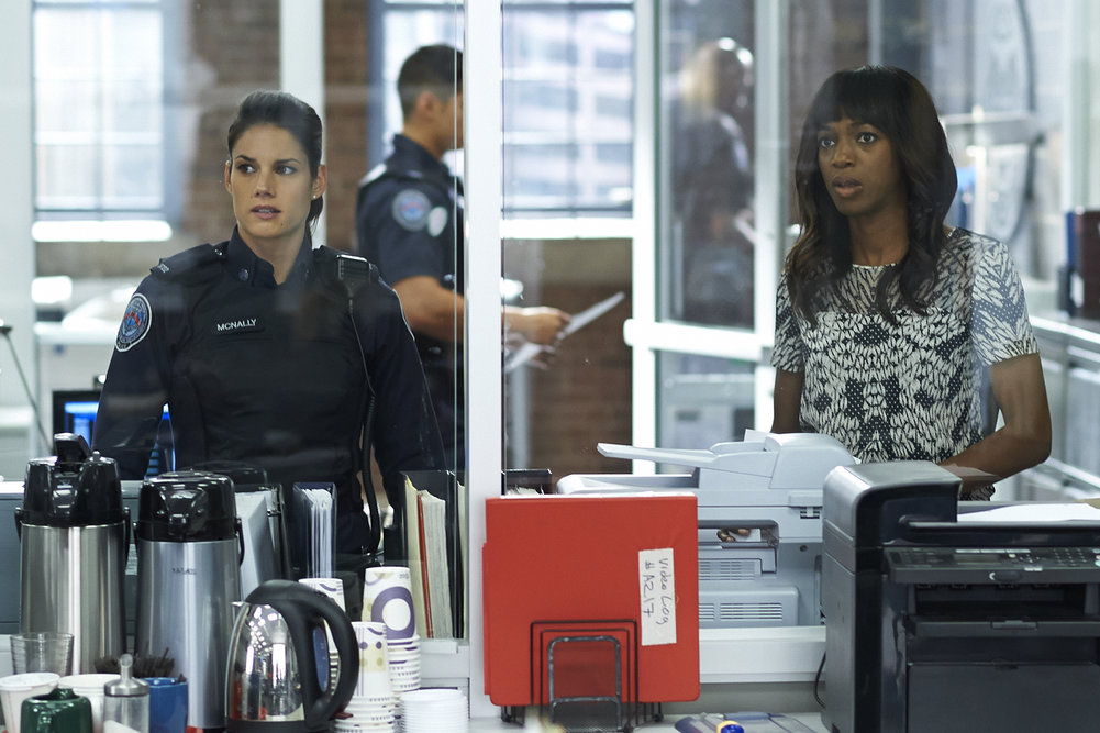 Image: Enuka Okuma in a scene from Rookie Blue