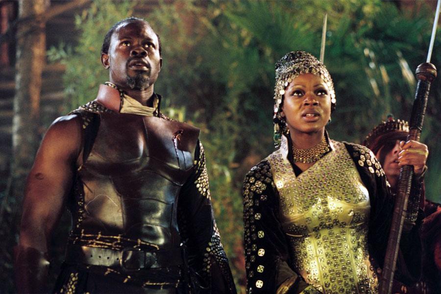 Image: Caroline Chikezie alongside Djimon Hounsou in Eragon