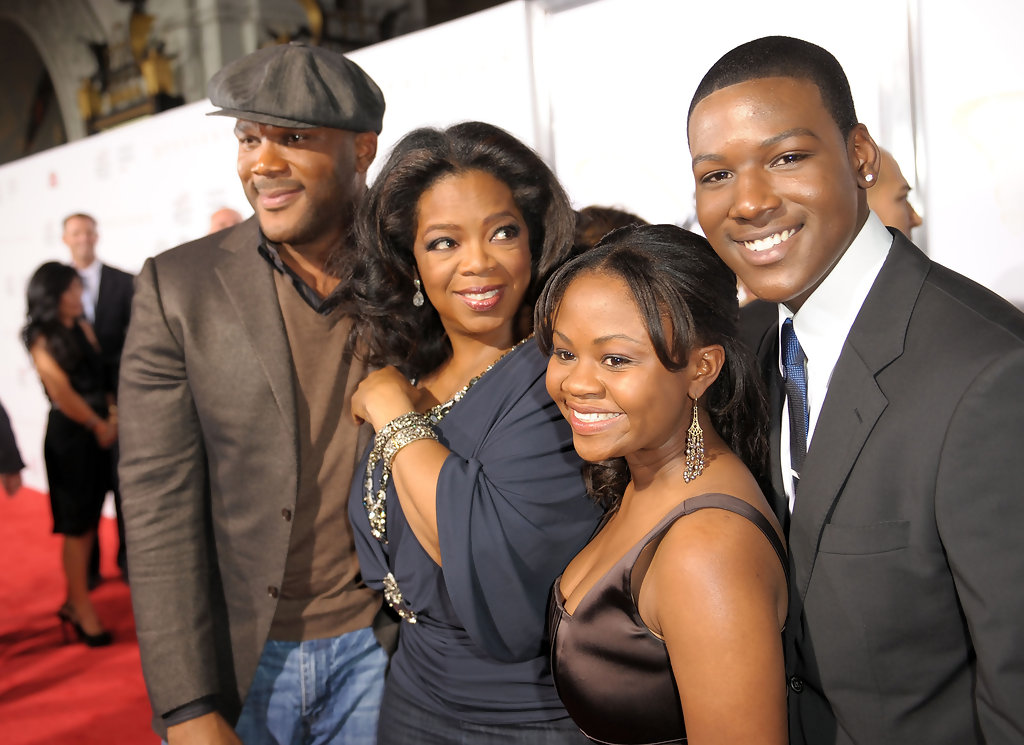 Image: Hope Olaide Wilson on the red carpet with Oprah Winfery and Tyler Perry