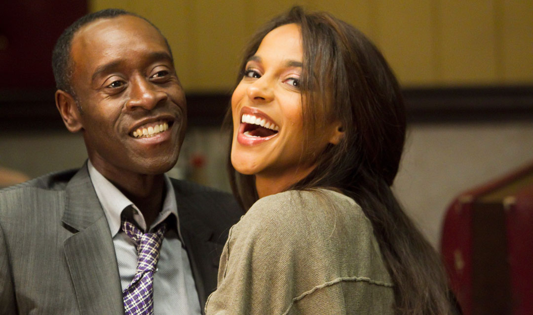 Megalyn Echikunwoke alongside Don Cheadle in Showtime's House of Lies