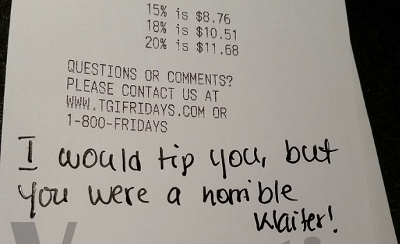 i refuse to tip for bad service � womanng