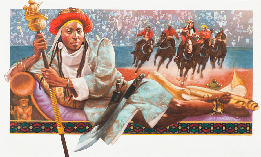 An impression of Queen Amina
