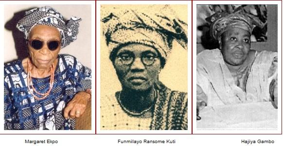 Margaret-Ekpo_Funmilayo-Ransome-Kuti_Hajiya-Gambo