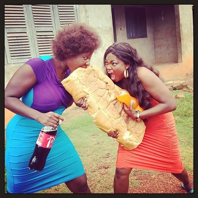 Funke-Akindele-and-Mercy-Johnson-Fight-Over-Agege-Bread