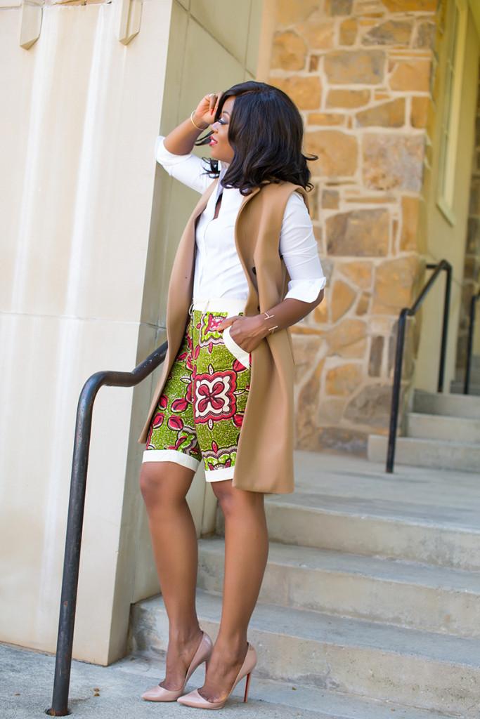 Ankara African print short, mango vest, Christian Louboutin_3605