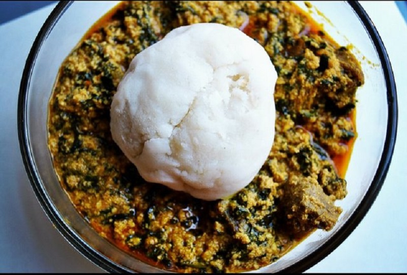 Image result for pounded yam and egusi
