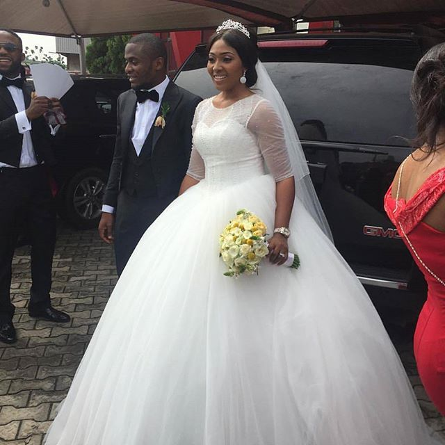 Nigerian Wedding Gowns: 14 Beautiful Nigerian Celebrity Wedding Dresses Of 2015