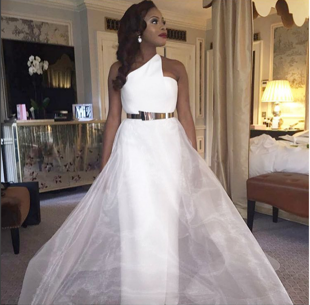 14 beautiful nigerian celebrity wedding dresses of 2015 woman marcy dolapo oni ombrellifo Choice Image