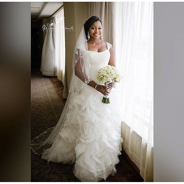 Nigerian Celebrity Wedding Dresses : Beautiful nigerian celebrity wedding dresses of