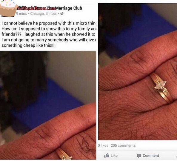 Will You Reject A Man Because He Proposed With A Cheap Ring This