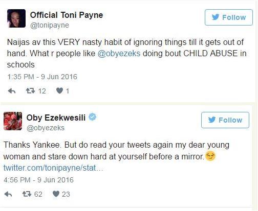 Toni Payne, Oby