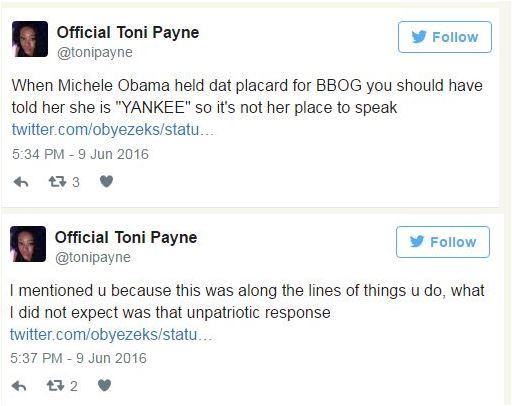 Toni Payne, Oby6
