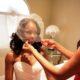 african-american-bride-white-sweetheart-neckline-dress-waterfall-veil